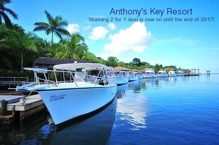 Dive Honduras!  Anthony's Key Resort has a stunning 2 guests for 1 deal until the end of 2017.  Prices start from £1126 per person (excluding flights)